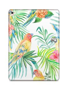 Tropical Birds iPad Case by NJsBoutiqueCo on Etsy