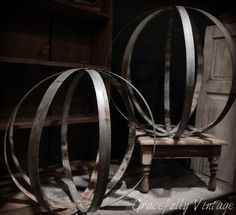 Galvanized Spheres available at  Gracefully-Vintage.Com