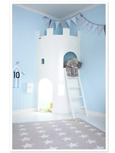 Blue And white little boy room