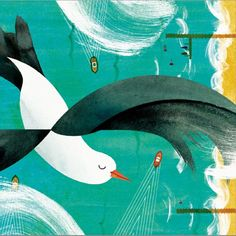 """""""A bit windy today"""" Illustration by Marc Martin, illustrator, author of childrens book. Marc Martin, Perspective Art, Children's Book Illustration, Landscape Art, Animal Drawings, Childrens Books, Illustrators, Design Art, Abstract"""