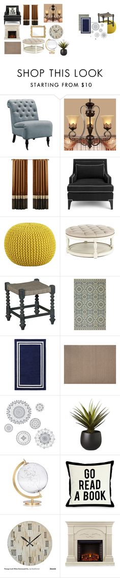 """""""living room"""" by kdiz-pasley ❤ liked on Polyvore featuring interior, interiors, interior design, home, home decor, interior decorating, Linon, Kate Spade, CB2 and PBteen"""