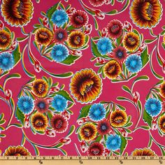 Oil Cloth Bloom Pink Item Number: EU-078 Our Price: $6.98 per Yard