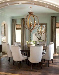Round birdcage style chandelier