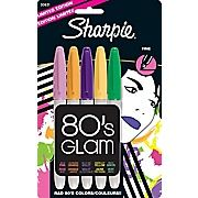 Shop Staples® for Sharpie® 80''s Glam Limited Edition Permanent Markers, Fine, Assorted, 5/Pack and enjoy everyday low prices, and get everything you need for a home office or business.