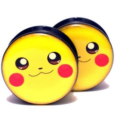 Find More Body Jewelry Information about Wholesale 20PCS/Lot  Black UV Acrylic Ear Plugs Screw Fit Ear Gauges Plugs   Pokemon Pikachu Logo  Mix 10 Sizes 6MM 25MM,High Quality gauge cluster,China screw plug Suppliers, Cheap gauge from DreamFire Store on Aliexpress.com