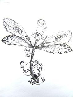 Dragonfly Tattoo Pattern