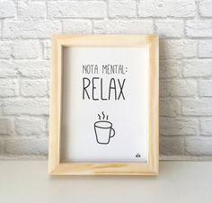 Cuadro decorativo con frase. A veces se trabaja, a veces se descansar. Encontralo en www.kermesseaccesorios.com.ar
