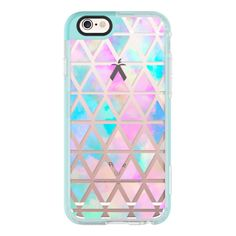iPhone 6 Plus/6/5/5s/5c Case - New standard Pastel Aztec watercolor ($40) ❤ liked on Polyvore featuring accessories, tech accessories, iphone case, apple iphone cases, iphone cover case, iphone hard cases and aztec print iphone case