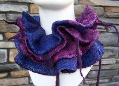felt silk and wool clown collar made by www.tashwesp.com