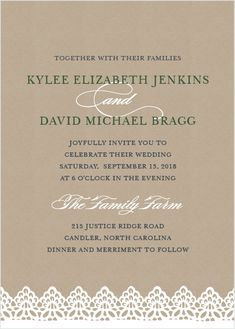 rustic lace wedding invitations wedding invitation fontsbaptism invitationsbridal shower