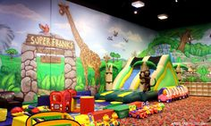 Superfranks in Pleasanton. amazing. And there's wifi, sports on TVs and good coffee for the parents ;) #SFBA #California #kids indoor playground
