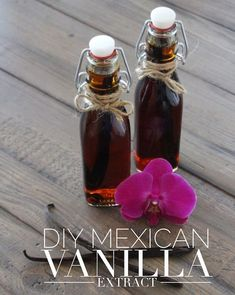 For those of you who thought that vodka could only be used to make cocktails, think again. Bakers and cooks use it too! Vodka and Mexican vanilla beans are the two key ingredients I use to make thi… - Buy Madagascar Vanilla Beans Mexican Vanilla Recipe, Vanilla Recipes, Homemade Liqueur Recipes, Homemade Spices, Homemade Seasonings, Homemade Liquor, Homemade Gifts, Spice Blends, Spice Mixes