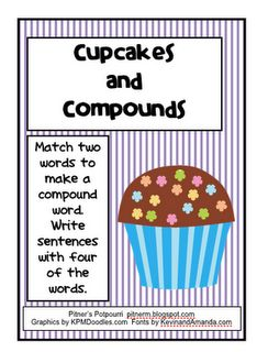 Cupcakes and Compounds - Use these cupcakes to make compound words for second grade Common Core practice. 2nd Grade Ela, First Grade Reading, Second Grade, Student Teaching, Teaching Reading, Teaching Ideas, Reading Games, Learning, Word Study