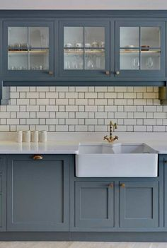I like how the dark grout ties the look together.