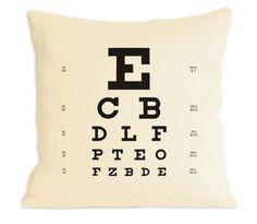 Eye Chart Pillow!