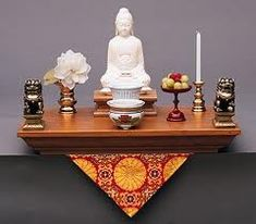 Setting-up A Buddhist Altar & Sacred Space Ven. David Xi-Ken Shi This guide is meant to assist in creating a home sacred space with an altar for your Buddhist practice. It is intended for the … Buddhist Shrine, Buddhist Art, Meditation Rooms, Meditation Space, Meditations Altar, Yin Yang, Personal Altar, Buddhist Practices, Zen Space