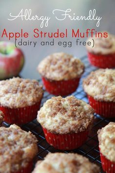 Awesome Apple Strudel Muffins - dairy free, egg free. Light, fluffy and SO good!