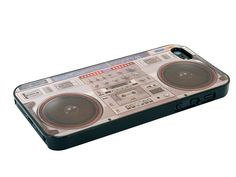 Ghetto Blaster iPhone 5 Case    The Ghetto Blaster case for iPhone 5. In true retro form, this iPhone stereo cover transforms your iPhone into an old school ghetto blaster.