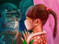On The Front Line: Chinese Artists Pay Tribute To Medics In The Fight With Coronavirus Outbrake Nurse Art, Oil Pastel Paintings, Composition Art, Mini Canvas Art, Medical Art, Lion Art, Cartoon Wallpaper, Art Studies, Illustrations And Posters