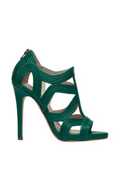 Elie Saab - Accessories - 2014 Spring-Summer green shoes l sandalias verdes Elie Saab l Raquel Moure from Amour a Moure. Pretty Shoes, Beautiful Shoes, Cute Shoes, Me Too Shoes, Beautiful Ladies, Shoe Boots, Shoes Sandals, Green Shoes, Green Pumps
