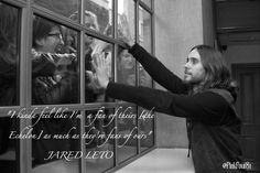 """I kinda feel like I'm a fan of theirs [the Echelon] as much as they're fans of ours"" @JaredLeto #Echelon #Inspiring"