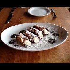 Scrumptious cannoli treats from Colletta inside Avalon are the perfect dessert to accompany any of their traditional Italian entrees.