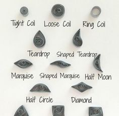 Paper Quilling Shape Practice Printable Worksheet   Learn how to make all the best quilling shapes with this free printable