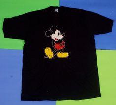 Vintage Mickey Mouse T Shirt Sz XL Disney Character Fashions USA Made Black #Disney #GraphicTee