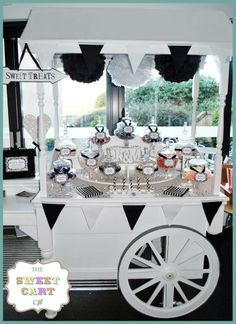 Beautiful Monochrome Candy Cart by The Sweet Cart Co