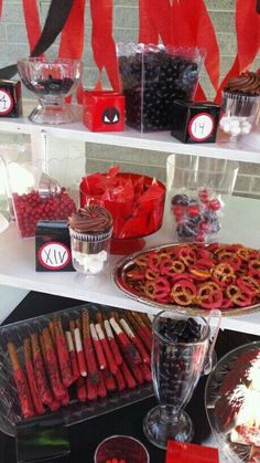 Red and Black Treats