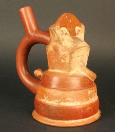 Botella asa estribo: representación arquitectónica – Museo Chileno de Arte Precolombino Museo Chileno de Arte Precolombino