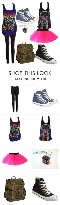 """""""emo outfits"""" by kelseymhenry ❤ liked on Polyvore featuring Maison Margiela, Converse and Iron Fist"""