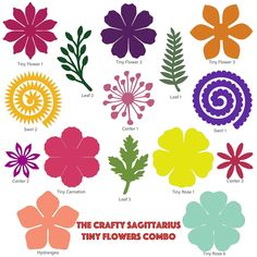 SVG DXF Complete Set of Tiny Flowers Components in Making Shadow Boxes Giant Monogram and Bouquet for Cricut and Silhouette Machines Only by TheCraftySagAnnie on Etsy Flower Petal Template, Leaf Template, Giant Paper Flowers, Tiny Flowers, Flower Petals, Making A Bouquet, Flower Making, Felt Flowers Patterns, Flower Shadow Box