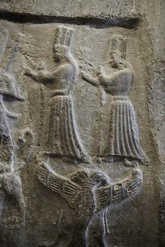 Photo of a Hittite god relief panel from Yazilikaya circa 1400BC