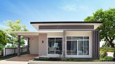 Two Bedroom Modern Style House with Interior Photos House Beautiful beautiful two bedroom house plans Modern House Colors, Modern Bungalow House Design, Modern Small House Design, Small House Exteriors, Small Modern Home, Modern Style Homes, Modern Bungalow Exterior, Flat Roof House Designs, Modern Roof Design