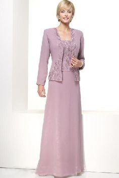 Square long sleeveless plum chiffon sequins Mother Of The Bride Dress MBD1022098