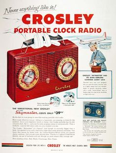 A portable clock radio...very cool in 1953
