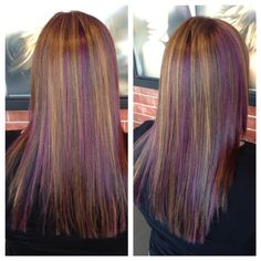 Thinking about doing more purple highlights to my hair....  hmmmm