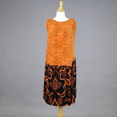 1920s Flapper Dress, 20s Burnout Velvet Dress, Art Deco Dress by daisyandstella on Etsy