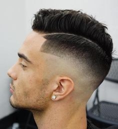 Long Top Fade With Line Up