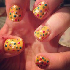 Polka dot nails!  Varnishedvalkyrie.blogspot.com