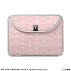 Soft Pink and White Arrows Pattern Sleeves For MacBook Pro