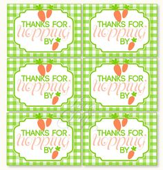 Hoppy Easter Party PRINTABLE Favor Tag from Love The by lovetheday, $5.00