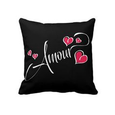 Amour American MoJo Pillow by LS_Gift_Shop