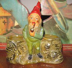 German gnome 1930s. Gnomes are strange, cute but strange! KN
