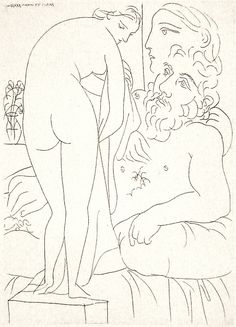 Pablo Picasso, Sculptor in Repose with Marie-Thérèse and Her Representation as the Chase Venus, Vollard Suite Picasso Sketches, Picasso Drawing, Painting & Drawing, Pablo Picasso, Edvard Munch, Rembrandt, Picasso Prints, Cubist Movement, Catalogue Raisonne