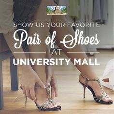 Don't forget, we pick a WINNER TOMORROW! Help yourself go back to school in style! Send us a picture of a pair of shoes you'd like at University Mall and tag the store. #shopuniversitymall
