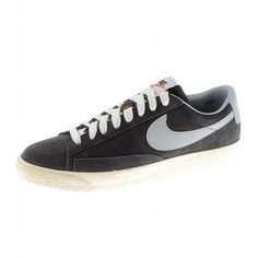 Nike Blazer Low PRM Vintage Trainers In Night Stadium Grey Suede,