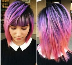 purple pink orange pastel