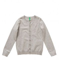 Cardigan with logo gray - kids | Benetton